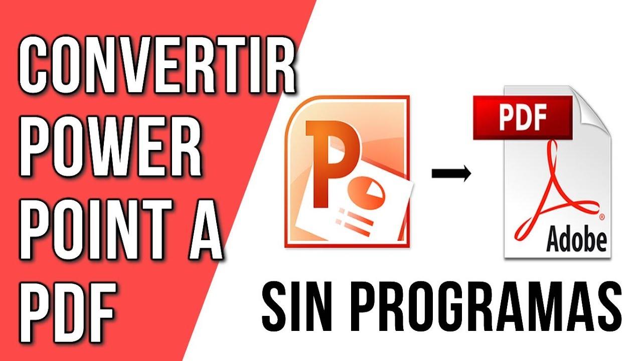 convertir powerpoint a pdf