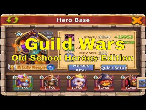 Castle Clash Guild Wars Old School Heroes Gameplay