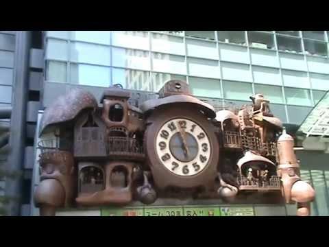 Япония. Музыкальные сказочные часы Хаяо Миядзаки / NI-TELE Really BIG Clock Hayao Miyazaki, TOKYO