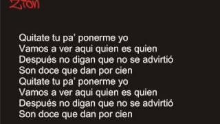 Quitate Tu - 12 Discipulos ft. Tego Calderon w/ Lyrics