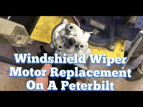 Peterbilt / Kenworth Windshield Wiper Motor Replacement and ... on kenworth wiring diagrams for 1996, kenworth w900 heater control diagram, kenworth air conditioner electrical diagram,