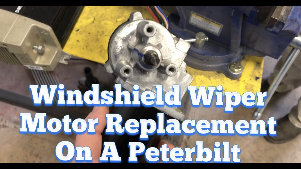 peterbilt kenworth windshield wiper motor replacement and installation diy easy repair [ 1280 x 720 Pixel ]