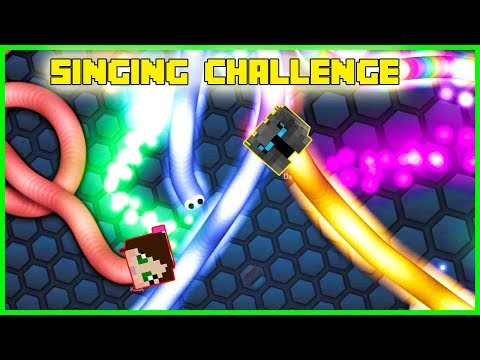 PopularMMOs Pat and Jen Minecraft: SLITHER.IO - SINGING CHALLENGE