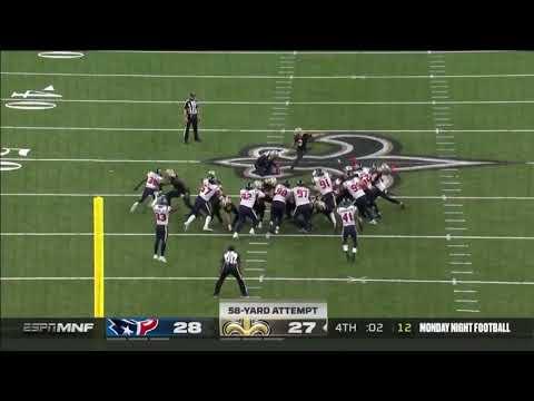 Wil Lutz Game Winning 58-yard FG | Texans vs. Saints Highlights