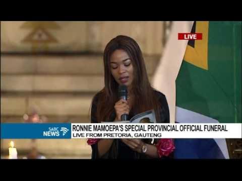 Mmatema Moremi pays tribute to late Ronnie Mamoepa
