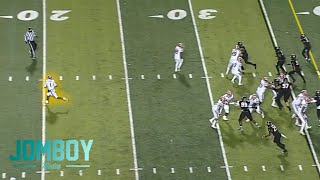 Quarterback runs backwards for an intentional safety, a breakdown