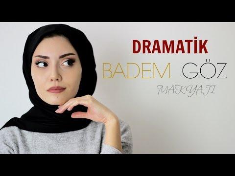 DRAMATİK BADEM GÖZ MAKYAJI || Dramatic cat eye makeup tutorial