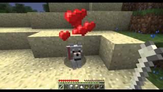 Выживание в Minecraft 1.4.2 Co-op часть 2(Собаки)