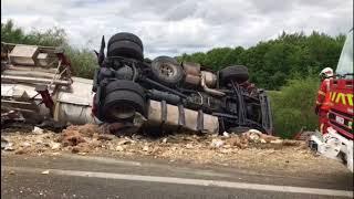 Accident mortel sur l'A20 à Magnac-Bourg