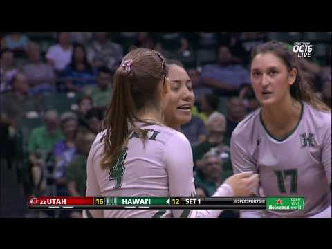Rainbow Wahine Volleyball 2017 - Hawaii Vs #22 Utah