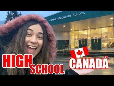 TOUR COMPLETO PELA MINHA ESCOLA NO CANADÁ  - HIGH SCHOOL - CAROL SANTINA