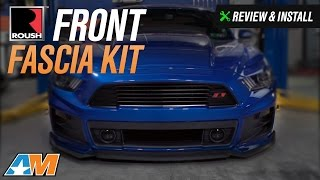 2015-2017 Mustang Roush Front Fascia Kit - Unpainted Review & Install