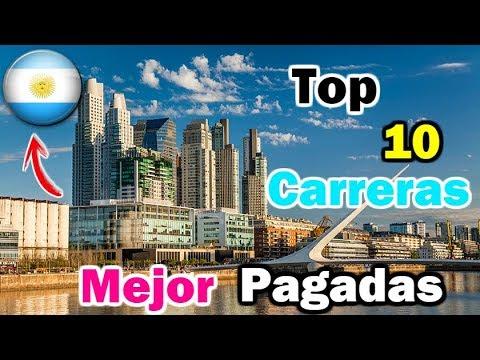 Top 10 Carreras Universitarias  MEJOR Pagadas En Argentina | Dato Curioso