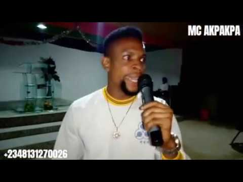 Mc Akpakpa On Stage Cant Stop Laughing Hard Youtube