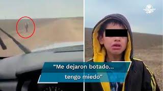 """""""Es que yo venía con un grupo de personas y me dejaron botado y no sé dónde están"""", cuenta un niño nicaragüense a un oficial fronterizo que grabó el momento"""