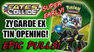 SUPER EARLY Zygarde EX Shiny Kalos Tin Opening! | EPIC PULLS!