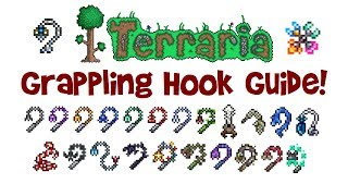 Terraria Hook Guide: Crafting & Comparison of ALL Grappling Hooks! (Best, Material/Recipe etc.)