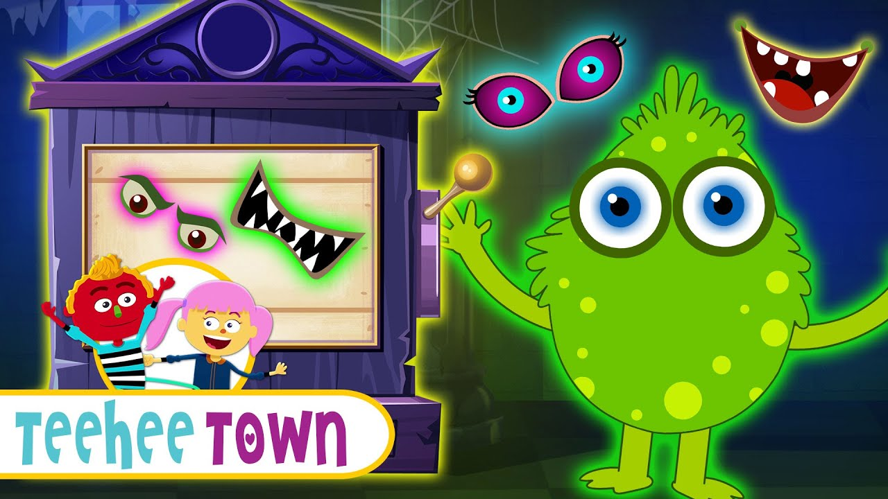 Find The Monster's Missing Face | Spooky Finger Family Songs For Children | Teehee Town