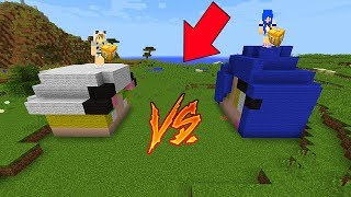 BATALHA LUCKY BLOCK COM MOONKASE! - MINECRAFT