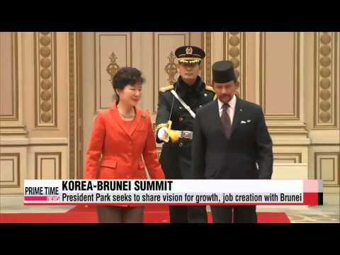 President Park seeks to share vision for growth, job creation with Brunei   박 대통