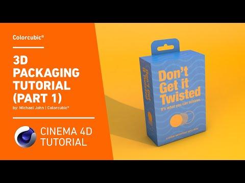 Cinema 4D Tutorial - 3D Packaging (Part 1)