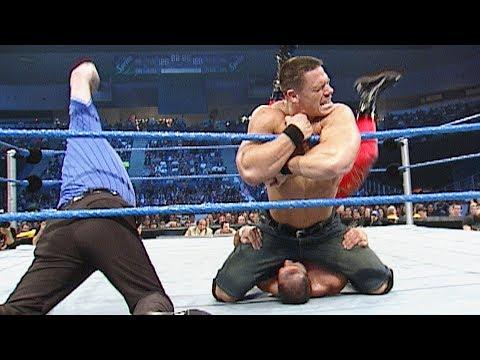 John Cena's first match in jean shorts: SmackDown, Jan. 9, 2003