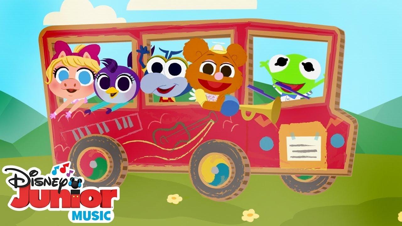 The Wheels On Bus Disney Junior Music Nursery Rhymes