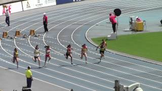 2014 Asian Junior Athletics Championships Round1 W100m Heat2