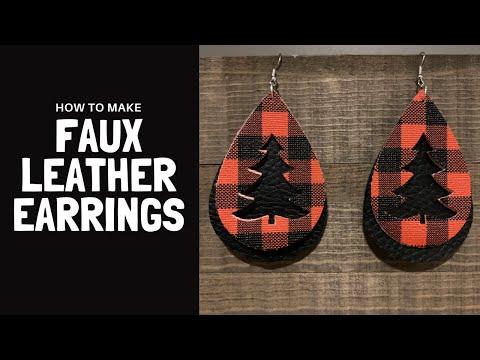 Buffalo Check Diy Faux Leather Earrings My Inspiration Corner