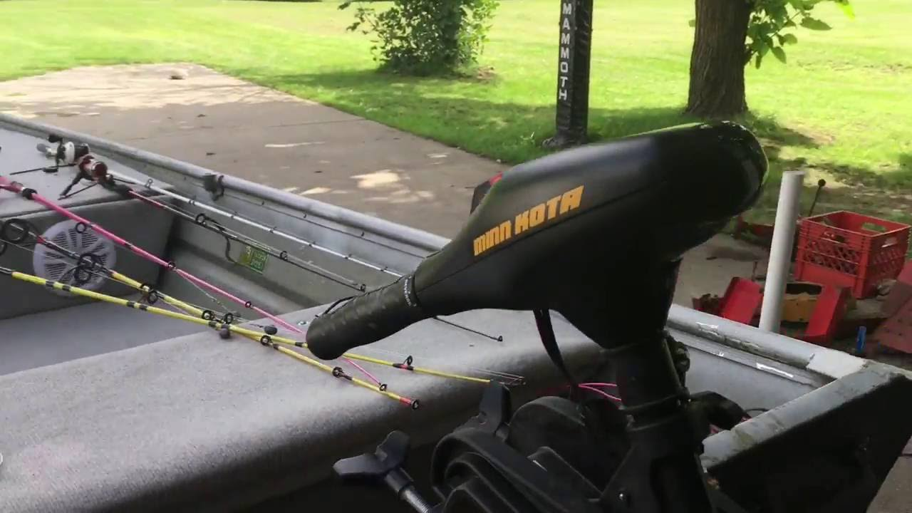 How to mount transom mount trolling motor on the bow for Mounting a transom mount trolling motor on the bow