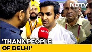 After Big Election Win In Delhi, Gautam Gambhir's Warning To Arvind Kejriwal