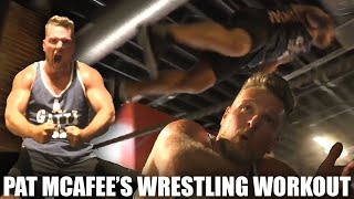 Pat McAfee's Wrestling Workout Before His Match With Adam Cole