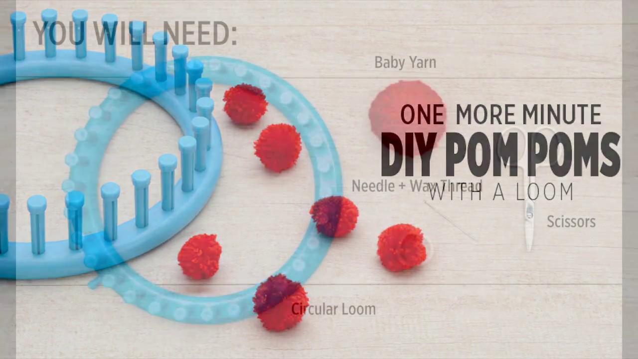 Craft pom poms in bulk - One Moore Minute How To Make Pom Poms In Bulk