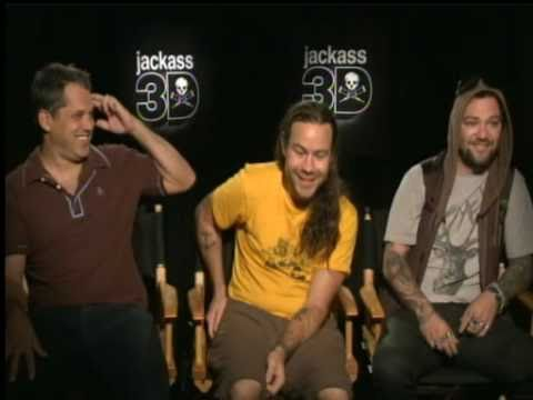 """Jackass 3D"" Interview with Chris Pontius, Bam Margera, Jeff Tremaine"