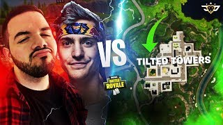NINJA AND COURAGE VS TILTED TOWERS! THE DUO IS BACK! (Fortnite: Battle Royale)