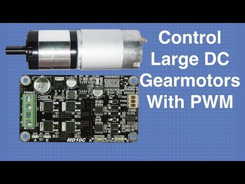 Control Large DC Gearmotors with PWM & Arduino | DroneBot