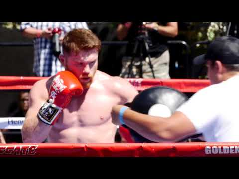 Canelo vs. GGG public media workout interviews