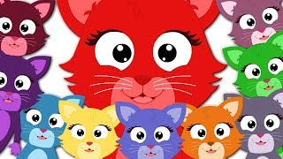 Ten Little Pussy Cats | Kindergarten Nursery Rhymes For Toddlers | Cartoon For Babies by Kids Tv
