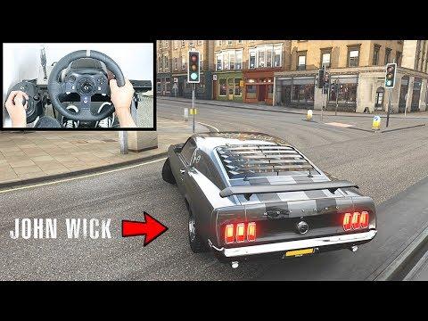 Forza Horizon 4 John Wick Ford Mustang 1969 (Steering Wheel + Shifter) Gameplay