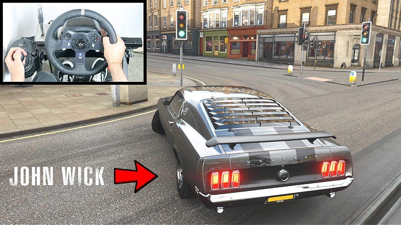Forza Horizon 4 John Wick Ford Mustang 1969 BOSS (Steering Wheel + Shifter) Gameplay thumbnail
