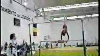 Lavinia Milosovici - 1990 Romania vs Spain Optionals - Uneven Bars