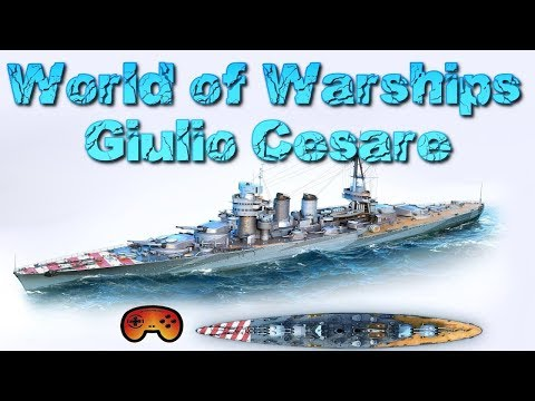 Giulio Cesare Gameplay/Preview - World of Warships Giulio Cesare Gameplay - Deutsch/German