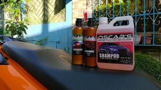 HELMOTOR PH - OSCAR'S SHAMPOO, NAUBAWAX AND ARMORTEC  REVIEW ON HONDA CLICK 125i