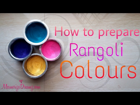How To Get Soft And Smooth Rangoli Powders Using Salt And Colours By Maya!
