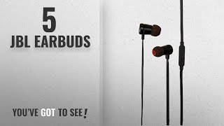 Top 5 JBL Earbuds [2018]: JBL T290 Premium In-Ear headphones with mic, flat cord with universal