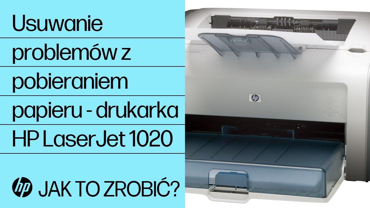 Usuwanie Problem 243 W Z Pobieraniem Papieru Drukarka Hp