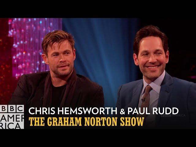 Chris Hemsworth Swaps Spoilers with Kit Harington   The Graham Norton Show   BBC America