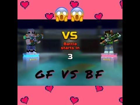 PIXEL GUN 3D: GF VS BF! 😂