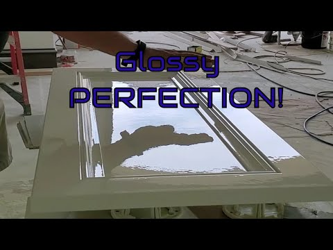 How To Get That GLOSSY And Glassy Cabinet Finish | Kitchen Cabinet Painting