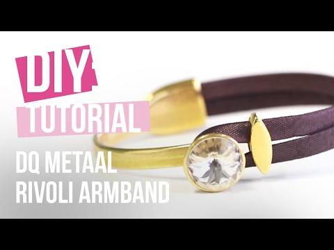 Sieraden maken: DQ Metalen Armband met Rivoli puntsteen ♡ DIY